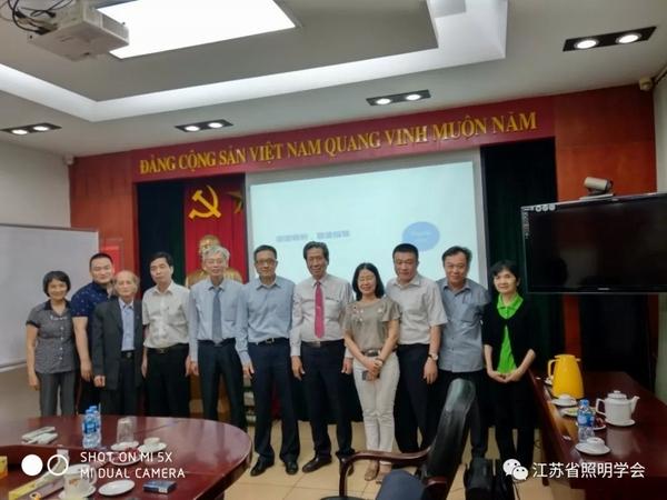 省照明学会秘书长访问越南RANG DONG照明公司
